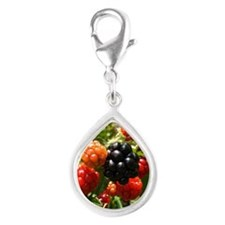 Berries Silver Teardrop Charm