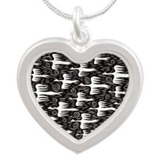 Flying Flock Silver Heart Necklace