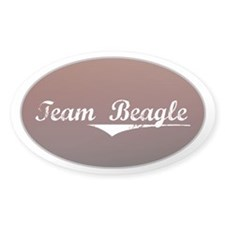 Team Beagle Oval Decal