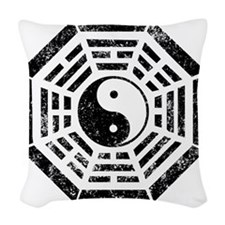 Dharma Yin Yang Woven Throw Pillow
