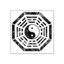 "Dharma Yin Yang Square Sticker 3"" x 3"""