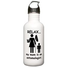 relax mom is entomolog Water Bottle