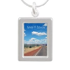 openroad_5x7_apparel Silver Portrait Necklace