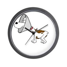 cone of shame3 White300 Wall Clock