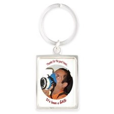 itsagas[ornament_oval] Portrait Keychain