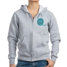 2-blue smiley Zip Hoodie