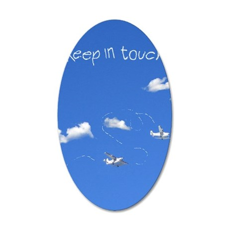 plane[208_V_F] 35x21 Oval Wall Decal