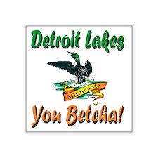 "Detroit Lakes Loon Square Sticker 3"" x 3"""
