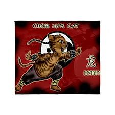 KUNG FU KITTY-CHOW YUN CAT-DRAGON Throw Blanket