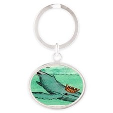 CHARLES, GREETING CARD copy Oval Keychain
