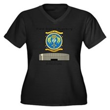 FSAv3_God_Ts Women's Plus Size Dark V-Neck T-Shirt