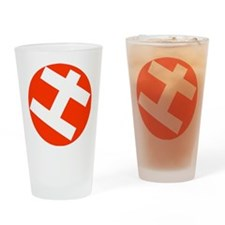 Helppox logo Drinking Glass