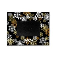 2014 Happy New Year Snowflake Photo Picture Frameg