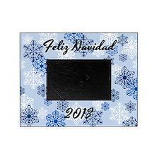 2013 Feliz Navidad Snowflake Photo Picture Frameb