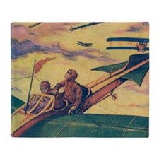 Tom Swift and Sky Racer Throw Blanket