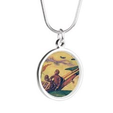 Tom Swift and Sky Racer Silver Round Necklace