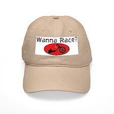 Wanna Race? Trike Baseball Cap