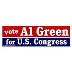 Al Green for Congress Bumper Sticker