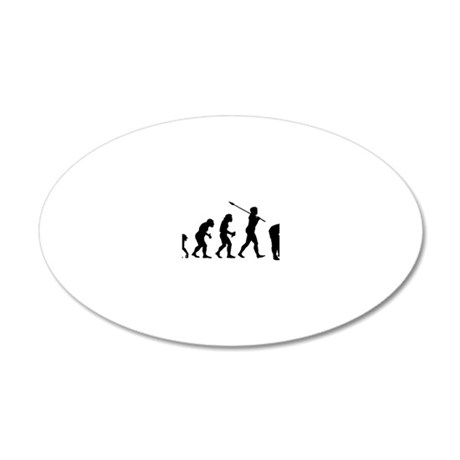 Croquet Player 20x12 Oval Wall Decal