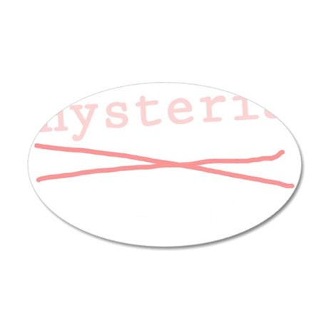 Hysteria lane light 35x21 Oval Wall Decal