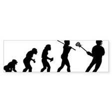 Lacrosse Player Bumper Sticker