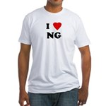 I Love NG Fitted T-Shirt