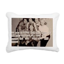 postcards 6 Rectangular Canvas Pillow