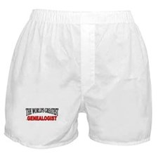 """The World's Greatest Genealogist"" Boxer Shorts"