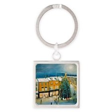 Christmas in Dublin Square Keychain