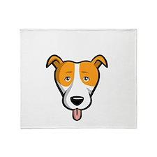 Pit-Bulls-Rule-dark Throw Blanket