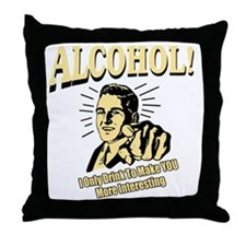 alcohol_complete Throw Pillow