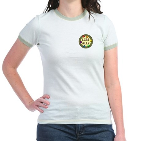 Ally Pocket Baubles -LGBT- Jr. Ringer T-Shirt