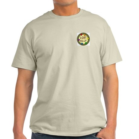 Ally Pocket Baubles -LGBT- Light T-Shirt