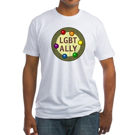 Ally Baubles -LGBT- Fitted T-Shirt