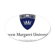 qmu transparent logo.gif Oval Car Magnet