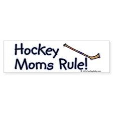 Hockey Mom's Rule Bumper Car Sticker