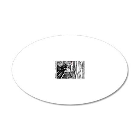 Newtowne Morris Dancers Scre 20x12 Oval Wall Decal