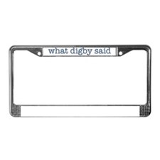 2-VS digby t shirt front License Plate Frame