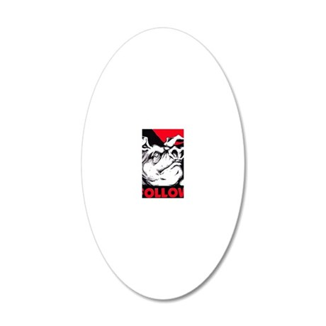 ANIMAL FARM 20x12 Oval Wall Decal