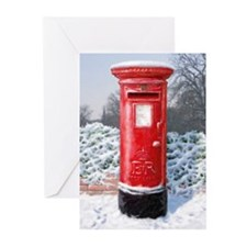Funny Red post box Greeting Cards (Pk of 10)