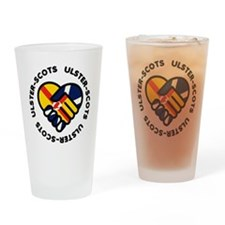 ulster scots hands Drinking Glass