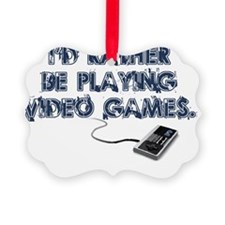PlayingVidGames Picture Ornament