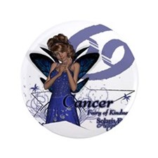"SFA_Cancer_3x3_teddybear 3.5"" Button"