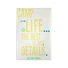 Camp-Is-Life_reverse Rectangle Magnet
