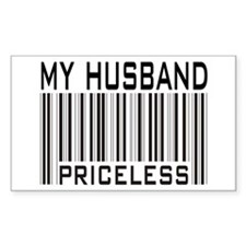 My Husband Priceless Barcode Sticker (Rectangular