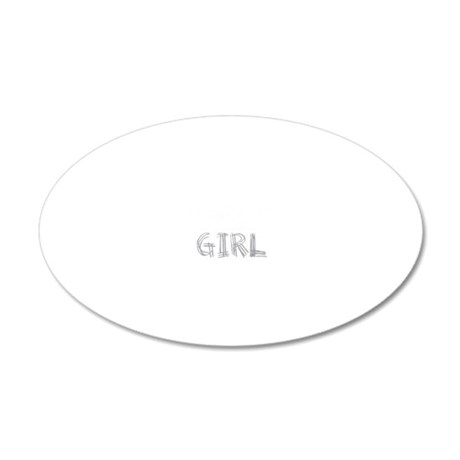 wolf-girl-darks 20x12 Oval Wall Decal