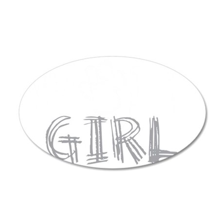 wolf-girl-darks 35x21 Oval Wall Decal