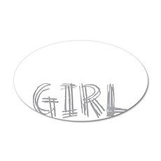 wolf-girl-darks 35x21 Oval Wall Decal
