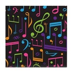Colored Music Notes Choir Band Tile Coaster