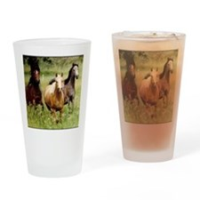 3-horses Drinking Glass